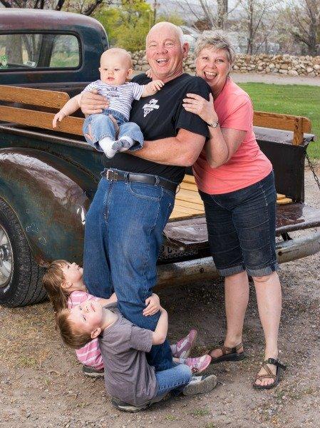 sherene and john with grandkids mystar vr