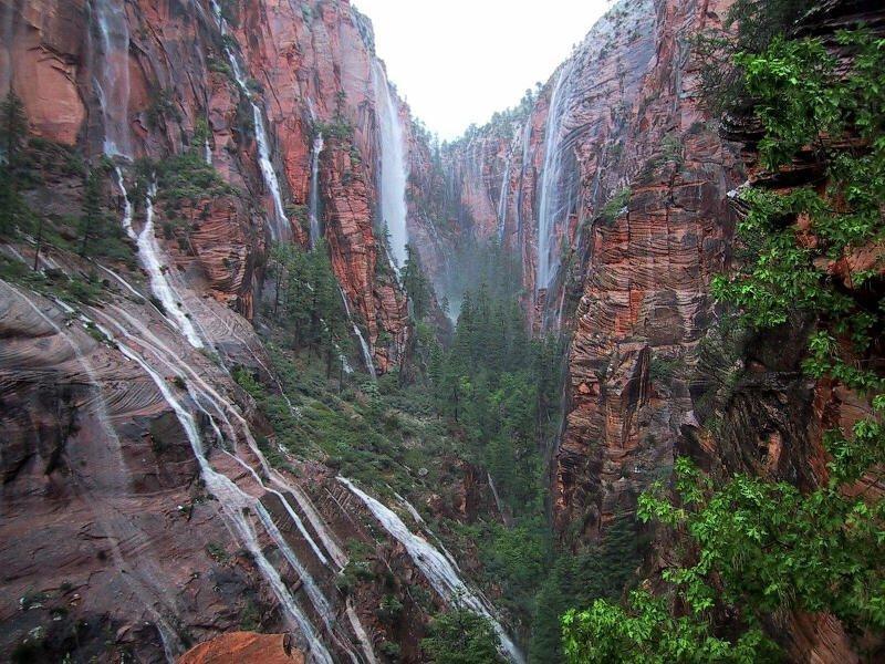 waterfalls zion national park