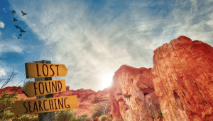 lost and found sign red rocks